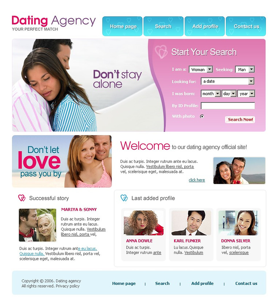 Images Design Dating Website