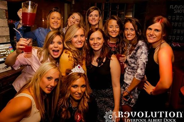 Girls In Night Club In Liverpool Uk