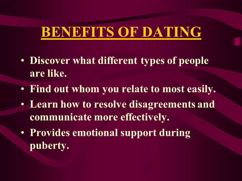 Of Relationships Dating Types