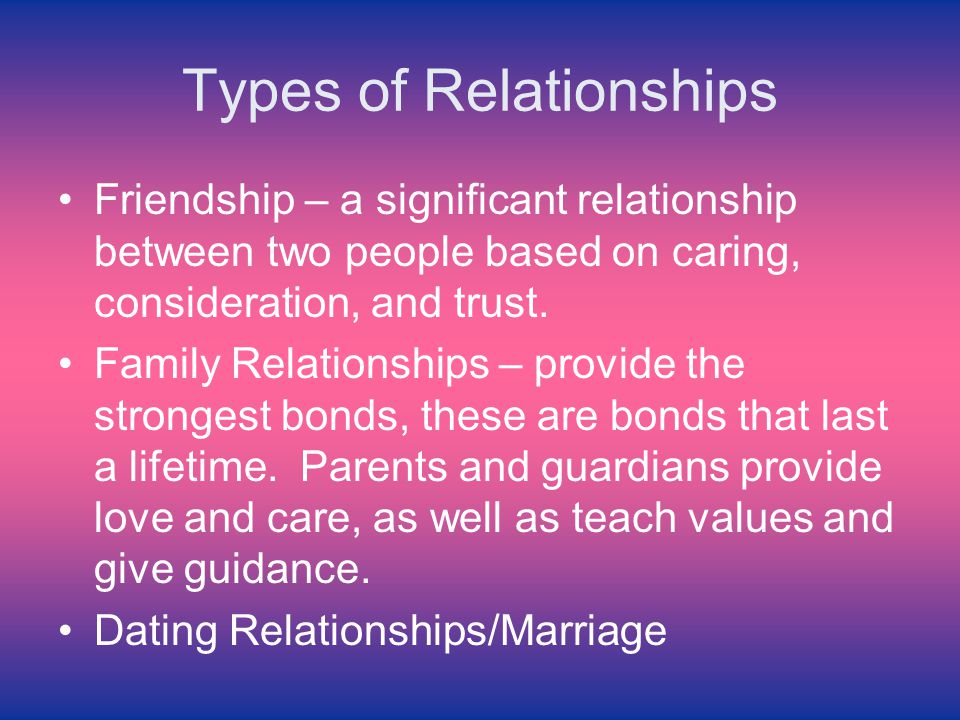 Relationships Dating Of Types