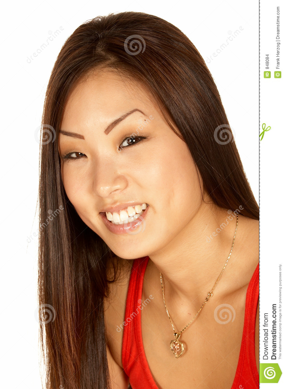 An Asian Woman Looking For